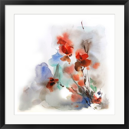 Framed Fall Flowers Print