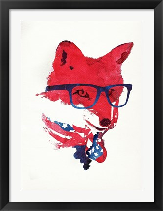 Framed American Fox Print