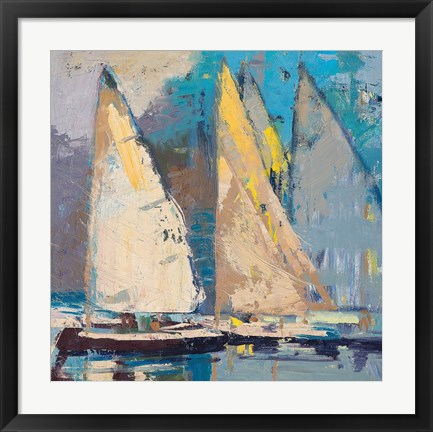 Framed Breeze, Sail and Sky Print