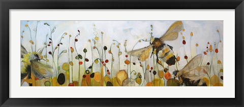 Framed Summer Bees Print