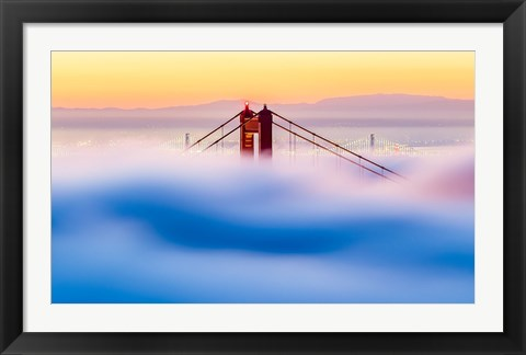 Framed Across The Bay Print