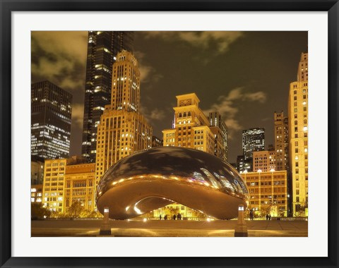 Framed Bean at Night Print