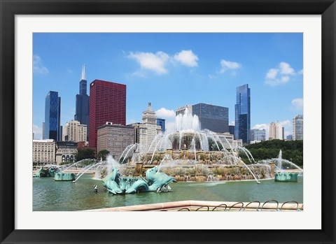 Framed Buckingham Fountain Print