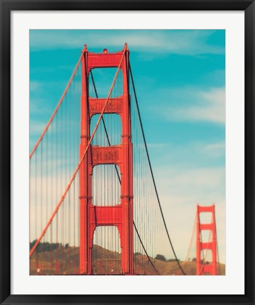 Framed Golden Gate in The Morning Print