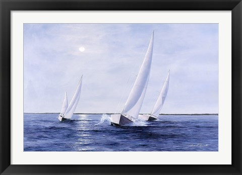Framed Blue Sails Print