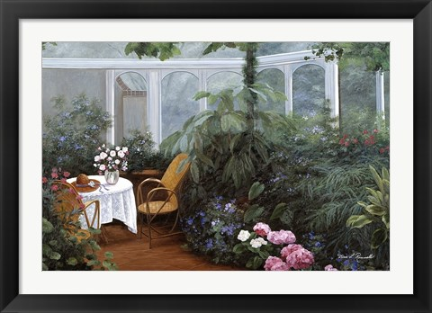 Framed Garden and Tea Room Print