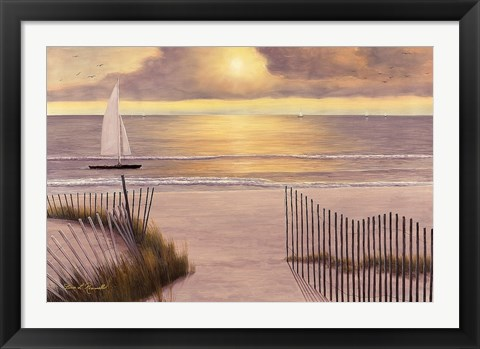 Framed When the Sun Goes Down Print