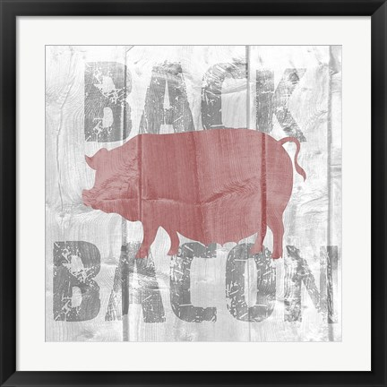 Framed Back Bacon Print