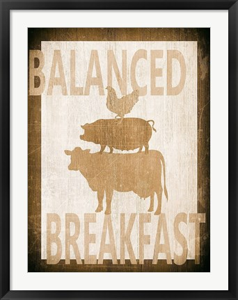 Framed Balanced Breakfast Two Print