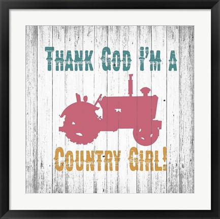Framed Country Girl Print
