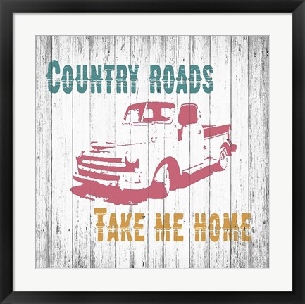 Framed Country Roads Print