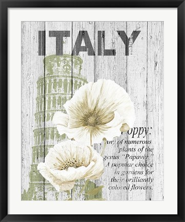 Framed Italy Poppies Print