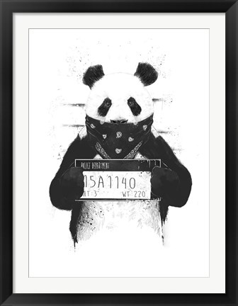 Framed Bad Panda Print