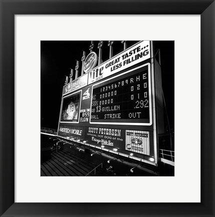 Framed Scoreboard at U.S. Cellular Field, Chicago, Cook County, Illinois Print