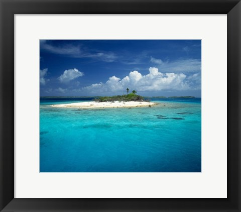 Framed Rangiroa, French Polynesia Print