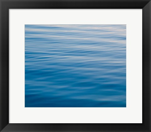 Framed Rippling Water at Sundown Print