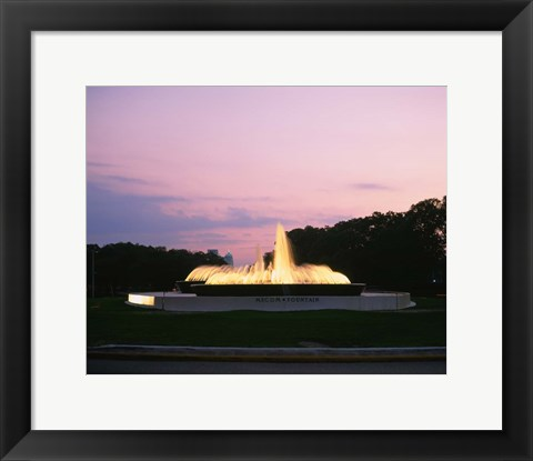 Framed Mecom Fountain, Houston, Texas Print