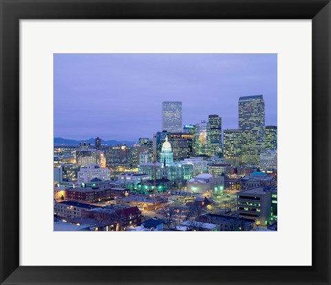 Framed State Capitol Building, Denver, Colorado Print