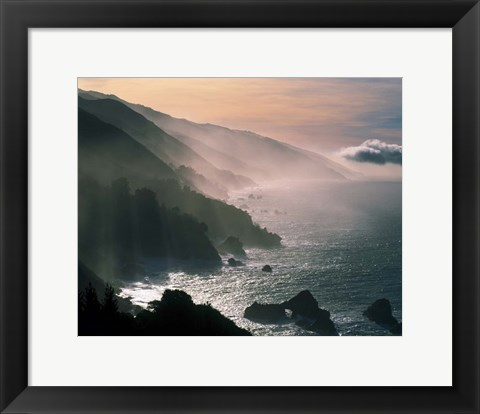 Framed Big Sur Coastline, CA Print