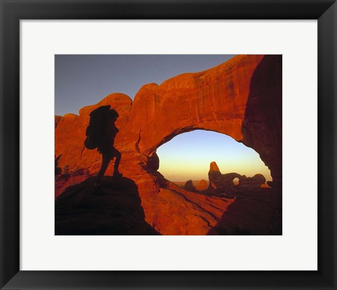 Framed Mountaineering Arches National Park, UT Print
