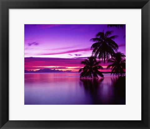 Framed South Pacific, Morea Print