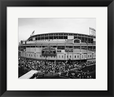 Framed Wrigley Field, Chicago, Cook County, Illinois Print
