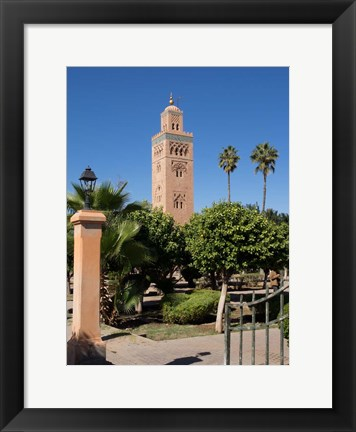 Framed Koutoubia Minaret built by Yacoub el Mansour, Marrakesh, Morocco Print