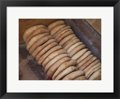 Framed Bread Baked in Oven, Fes, Morocco Print