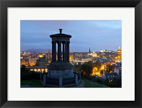 Framed Dougald Stewart Monument on Calton Hill, Edinburgh, Scotland Print