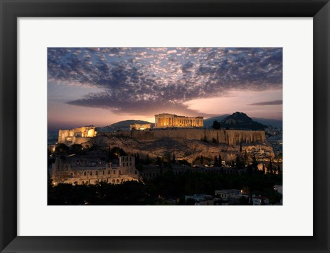 Framed Ruins of a Temple, Athens, Attica, Greece Print