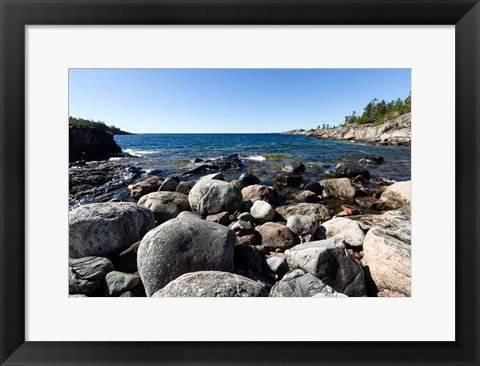 Framed North Shore Lake Superior, Ontario, Canada Print