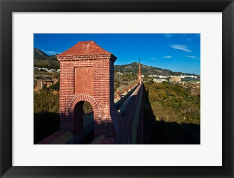 Framed 19th Century Eagle Aqueduct, Spain Print