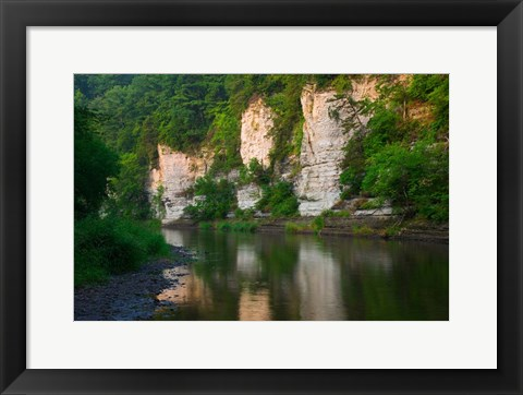 Framed Limestone Bluffs along Upper Iowa River Print