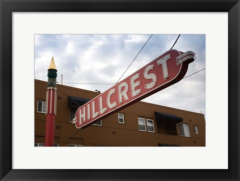 Framed Sign in Hillcrest, San Diego, California Print
