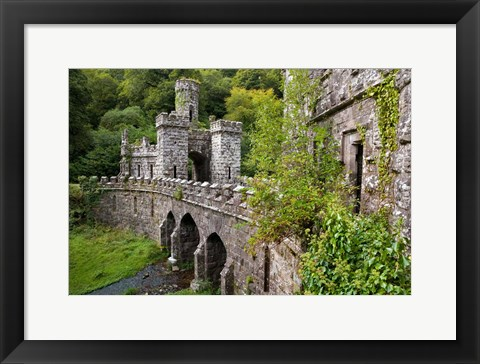 Framed Ballysaggartmore Towers, Lismore, County Waterford, Ireland Print