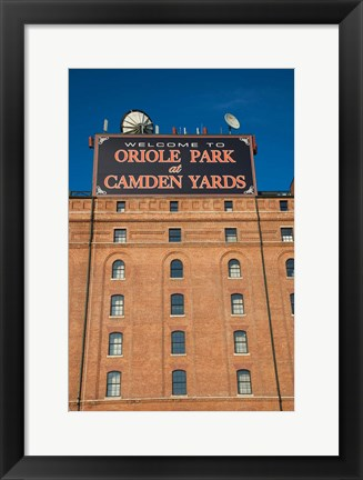 Framed Oriole Park at Camden Yards, Baltimore, Maryland Print
