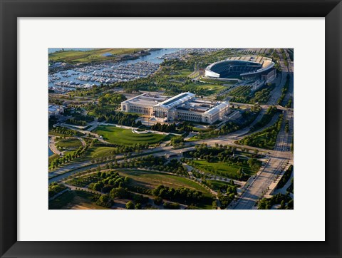 Framed Field Museum and Soldier Field, Chicago, Illinois Print