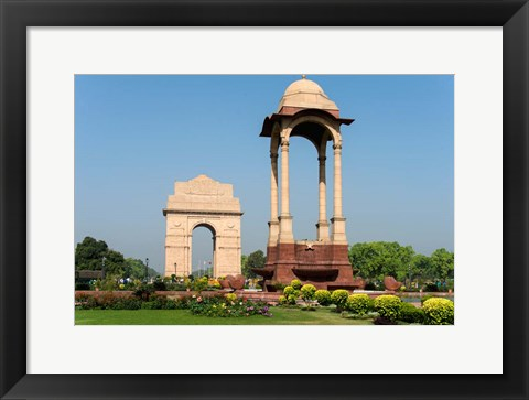 Framed View of the India Gate, New Delhi, India Print
