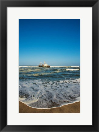 Framed Shipwreck on the beach, Skeleton Coast, Namibia Print