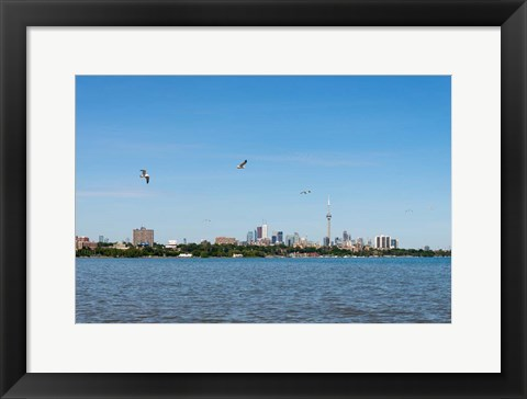 Framed Waterfront City, Toronto, Ontario, Canada Print