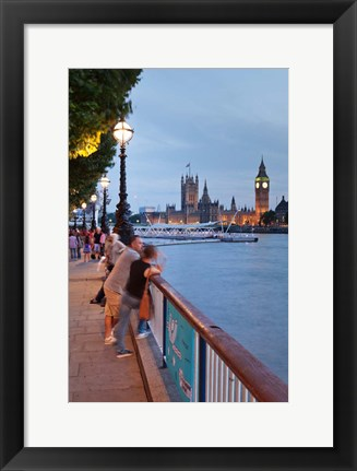 Framed Big Ben and Houses of Parliament, City of Westminster, London, England Print