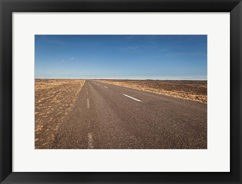 Framed Empty Road, Iceland Print