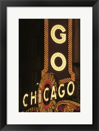 Framed Chicago Neon Sign Print