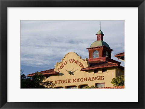 Framed Fort Worth Livestock Exchange, Fort Worth, Texas Print