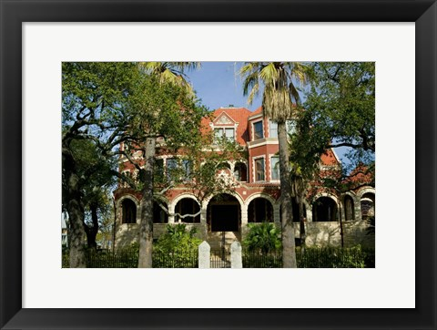 Framed Moody Mansion and Museum, Galveston, Texas Print