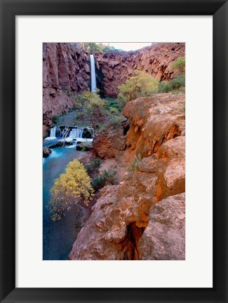 Framed Havasu Falls, Grand Canyon National Park, Arizona Print