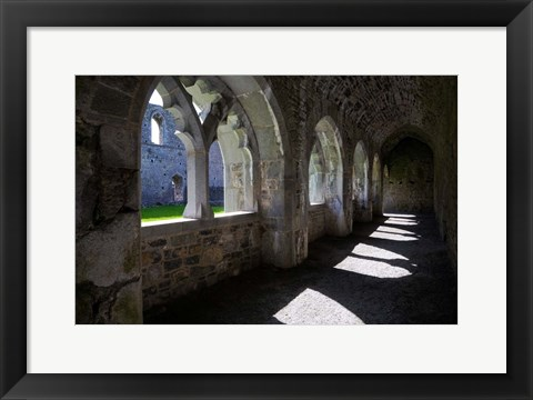 Framed Cloisters in Killmallock 12th Century Dominican Friary, Co Limerick, Ireland Print