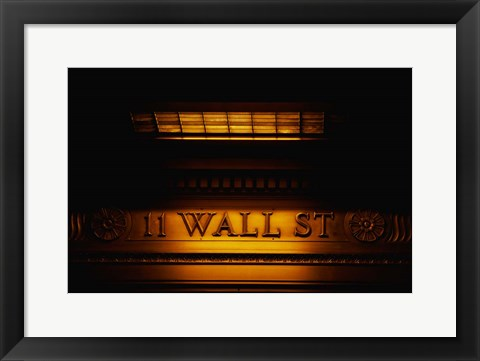Framed 11 Wall St. Building Sign Print