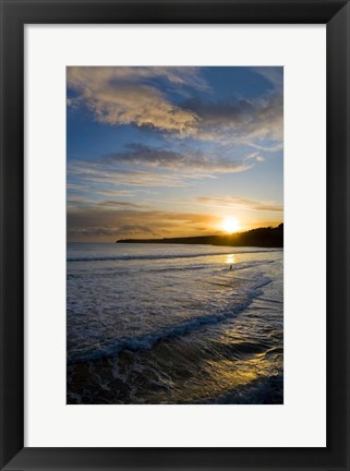 Framed Beach & Great Newtown Head, Tramore, County Waterford, Ireland Print
