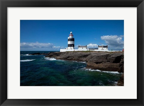 Framed Hook Head Lighthouse, County Wexford, Ireland Print